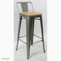 Барный стул Толикс Низкий Вуд Гальванизированный, H-76см.(Tolix Low Wood Galvanized, H-76)