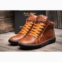 Зимние кожаные ботинки Wrangler Dakota Light Brown