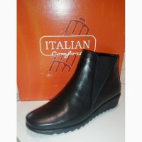 250 мм Italian Shoemakers женские кожаные ботинки узкая стопа подъем