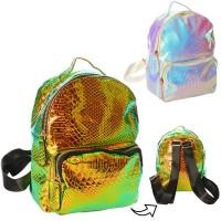 Рюкзак 1082-2 застежка-молния, наруж.карман, внутр.карм, 2цвета, в кульке, 22-22-9см