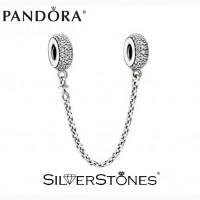 Оригинал Pandora Пандора шарм разделительная цепочка Pave Паве арт. 791736CZ