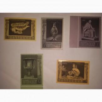 Продам марки СССР 1966 года Государственный эрмитаж 5 марок