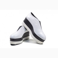 Туфли белые на платформе