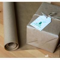 Крафт бумага упаковочная, без печати, плотность 35 гр длина 32м шир70см