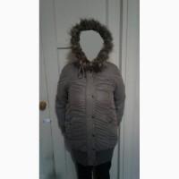 Удлиненная куртка на синтепоне серого цвета