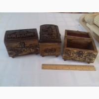 Деревянная шкатулка с этническим орнаментом. Ручная работа