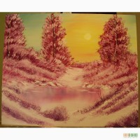 Картина маслом Зимовий ранок 50х60