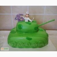Праздничный торт на юбилей медсестры с танко-ремонтного завода