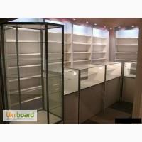 Прилавки, витрины, стеллажи, мебель для магазинов, аптек, АЗС
