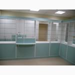 Оборудование для аптек, прилавки, шкафы, кассовые места, отделы под ключ