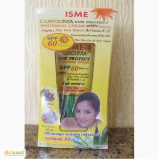 Крем солнцезащитный отбеливающий Isme Curcuma SPF 60