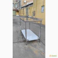 Столы для общепита из пищевой стали. Пристенный борт/полка