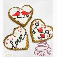 Пряники на заказ ко дню святого Валентина и на 8 Марта