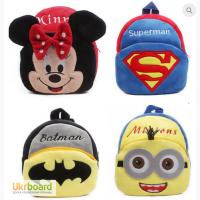 Детские рюкзачки из плюша оптом