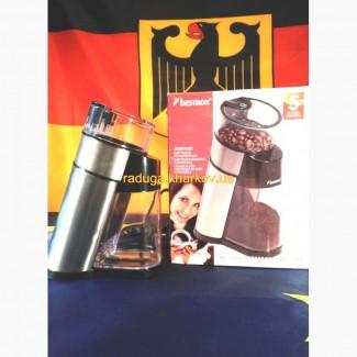 Кофемолка электрическая кофе молотый измельчитель арабика зерна BESTRON настольная бытовая