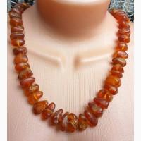Уникальное янтарное ожерелье в винтажном стиле