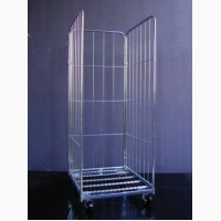 Ролл-контейнер сетчатый 3 стенки. Код: R4 ROLS 0050H3R0