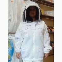 Куртка пчеловода коттон 2-х слойная сетка с маской Евро