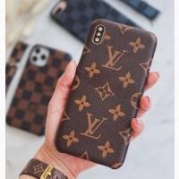 Чохол на Айфон Iphone 7/8/SE2020 коричневий з принтом бренду Louis Vuitton LV Луї Віттон