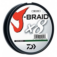 8-ми жильный шнур Daiwa J-Braid x8 Braided Line 330 yards (300 метров)