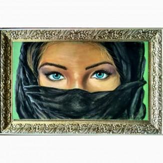 Картина автораСиние глаза-пастель, 55х32