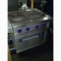 Плита електрична Абат б/у 4 конфорки + духовка з конвекцією