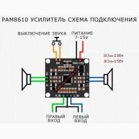 Підсилювач цифровий D-клас, 30ВтРАМ 86102*15Вт 4Ом