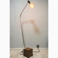 Торшер PrideJoy из металла, натурального дерева в стиле Loft с лампой Эдисона
