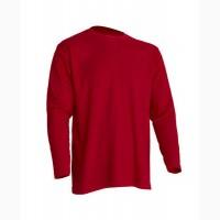 Мужская футболка с длинным рукавом, красная