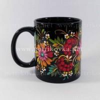 Чашки с петриковской росписью. Роспись ручная, подлаковая