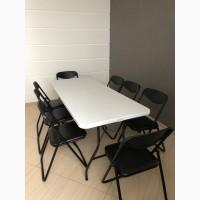 Аренда складных стульев и столов, барных столов