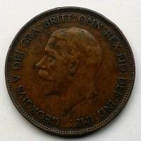 Англия 1 пенни 1928 год