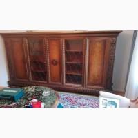 Книжный шкаф Библиотека для книг Неоренесанас на львиных лапах Комод в кабинет