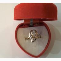 Золотое кольцо 585 проба, разм, 17, Львовский ювелирный