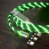 Светодиодный магнитный кабель USB Type-C