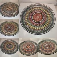 Узбекская тарелка Ляган d 45 см Риштан Узбекская посуда узбекский риштан пахта пахтагуль