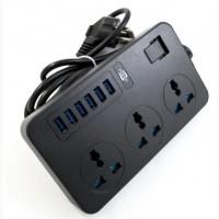 Сетевой удлинитель TB-T09 6 USB+3 розетки 2м IQ Power 3 евро-розетки и 6 USB порты