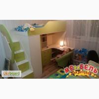 Детская кровать-чердак с рабочей зоной (кл21)
