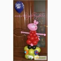Свинка Пеппа из воздушных шаров