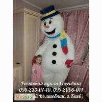 Оригинальное, необычное поздравление зимой (ростовая кукла Снеговик, г. Киев)
