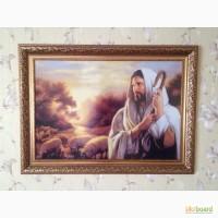 Продам ікону Добрий пастир вишиту хрестиком