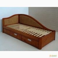 Надежная подростковая кровать из массива ясеня (дуба)