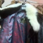 Оригинальная норковая шуба украшена мехом лисы распродажа