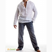 Мужская льняная рубашка, брюки, шорты