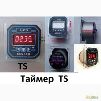 Таймер ТS, cерия UDS-12.R, прямой счет минут-секунд и часов-минут, 3 режима работы, реле
