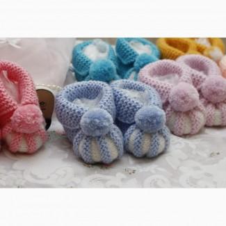 Пинетки-зефирки для самых маленьких. 0-8 месяцев