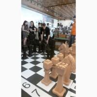 Предлагаем шахматы большие, уличные из дерева