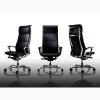 Кресло Руководителя OKAMURA DUKE в коже, с высокой спинкой производства Японии