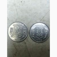 Продам монету України 1 копійка 1992 року з товстим гуртом