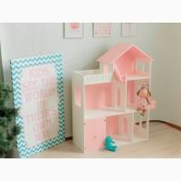 Кукольный домик для кукол, разноцветный 110*90*30